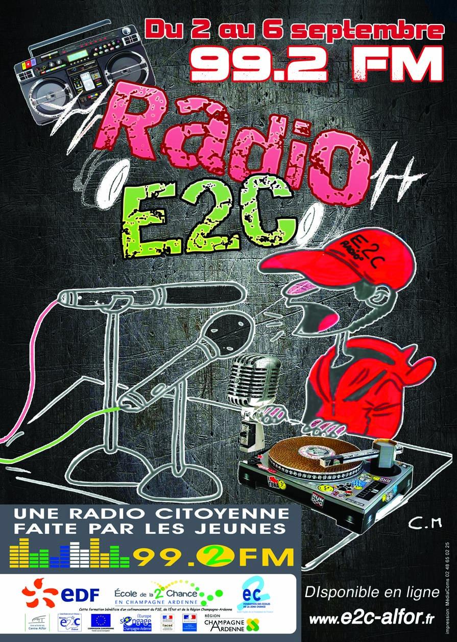 Radio éphémère à l'E2C Champagne Ardenne
